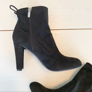 Marc Fisher Black Suede Ankle Boots  7 1/2 Medium